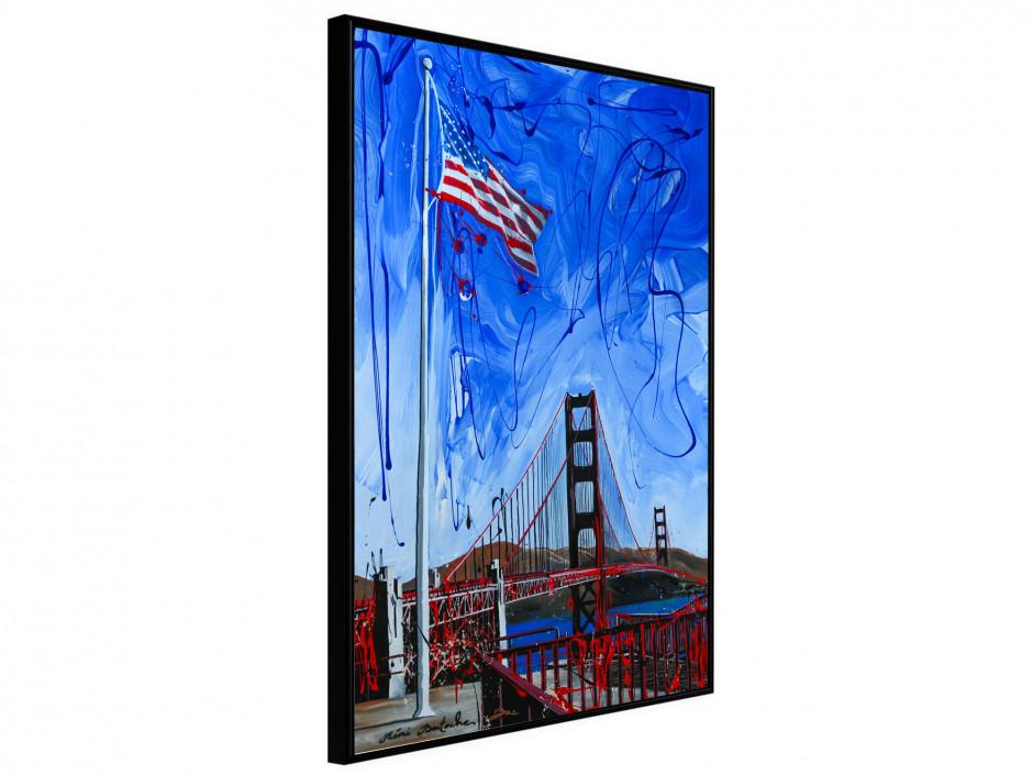 Affiche sous cadre US Flag