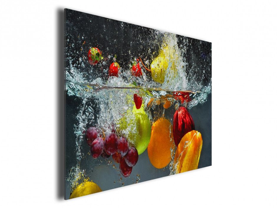Tableau cuisine fruits en toile imprim e pas cher - Tableau de cuisine moderne ...