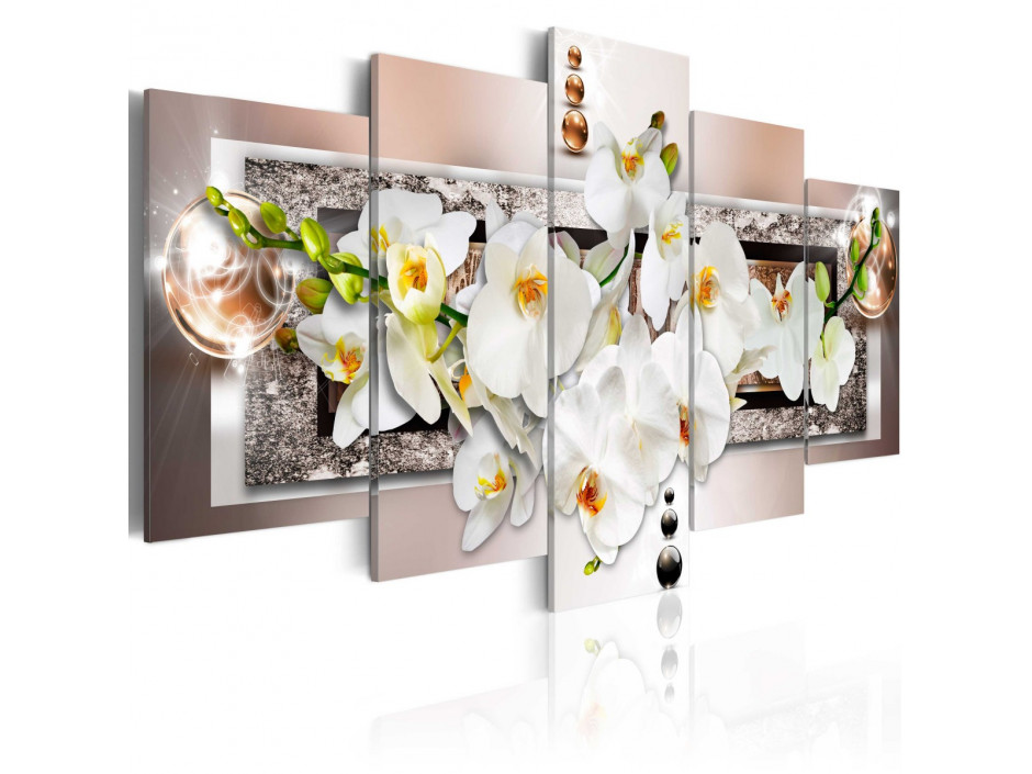 Tableau  White abstract orchid