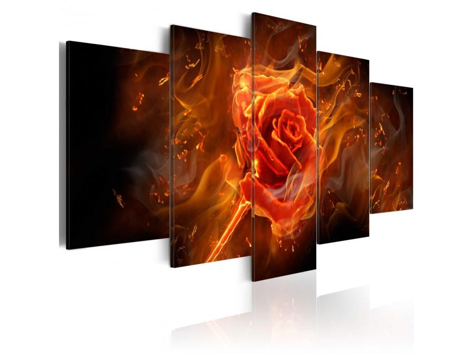 Tableau - Rose brûlante