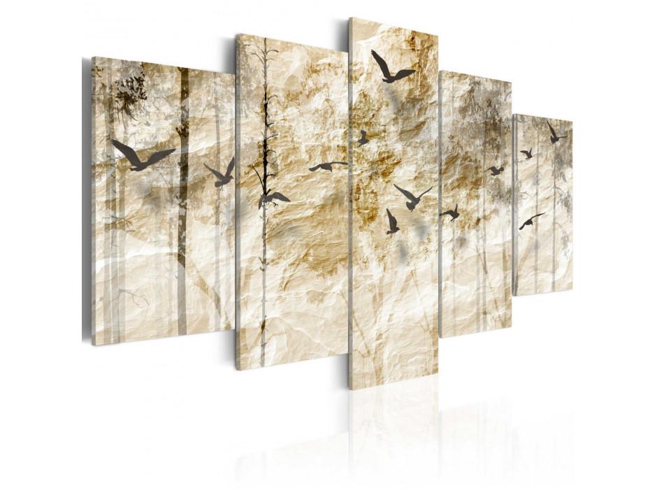 Tableau  Forêt en papier