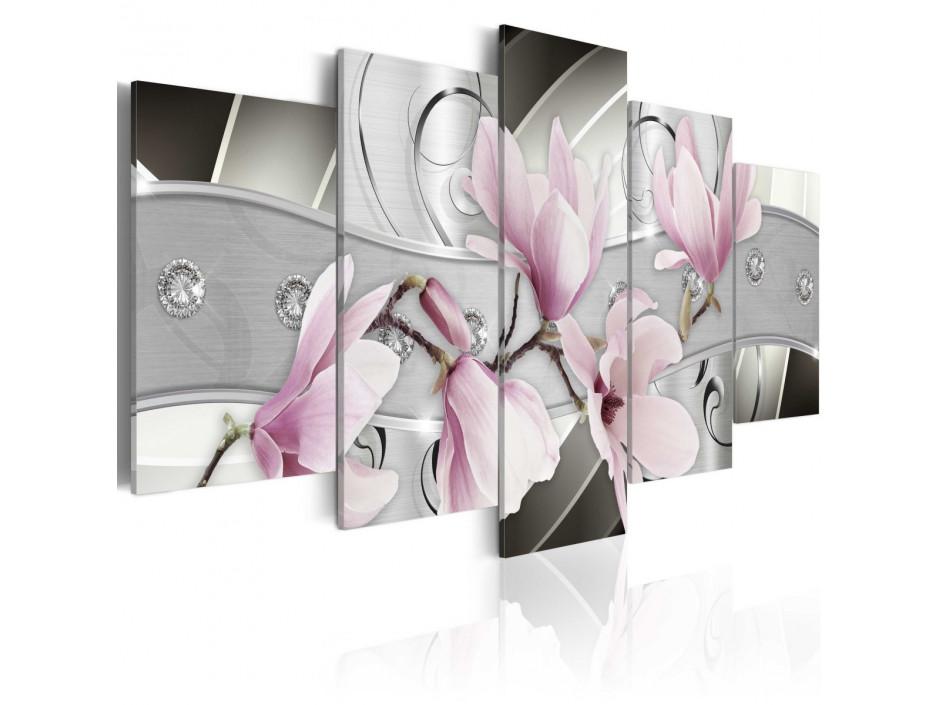 Tableau  Magnolias en acier