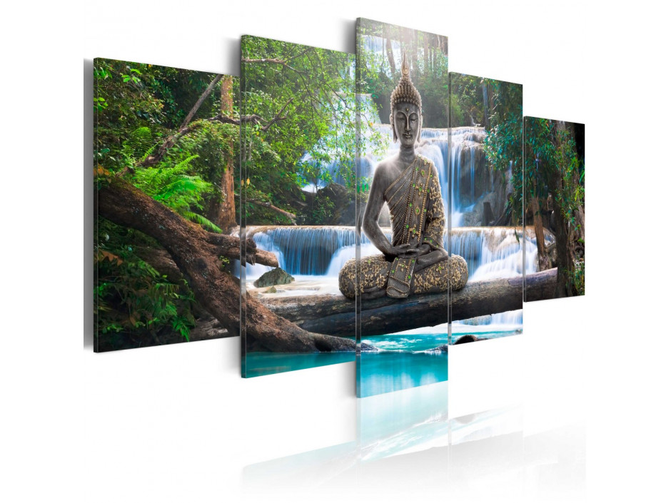 Tableau - Buddha and waterfall