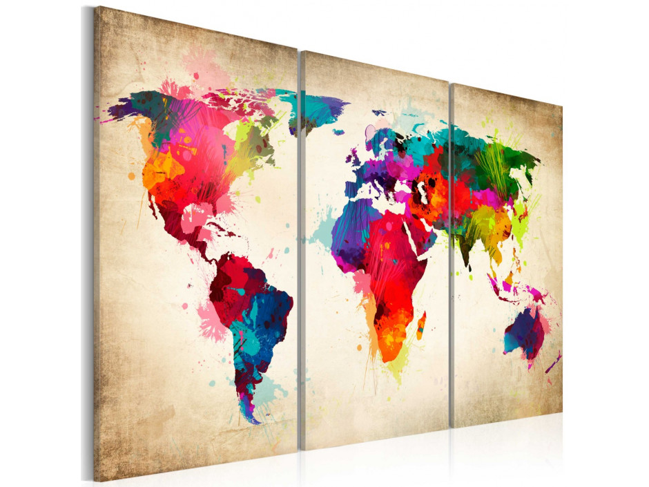 Tableau  Rainbow Continents