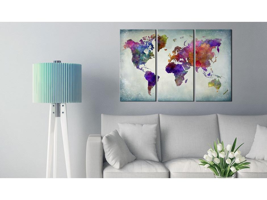 Tableau  Monde coloré