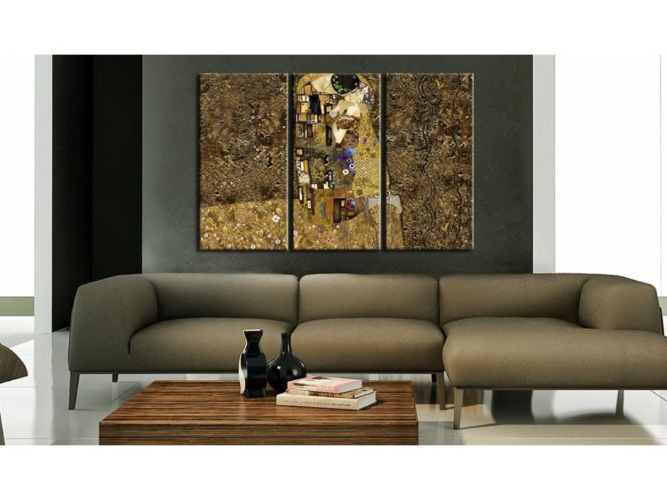 Tableau  Klimt inspiration  Baiser