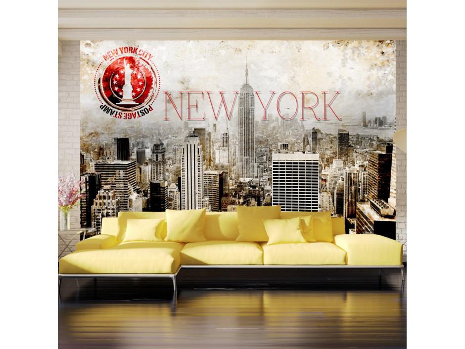 Papier peint - New York - POST AGE STAMP
