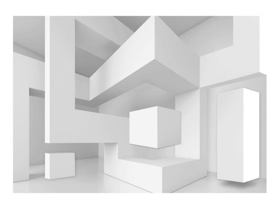 Papier peint  White geometry