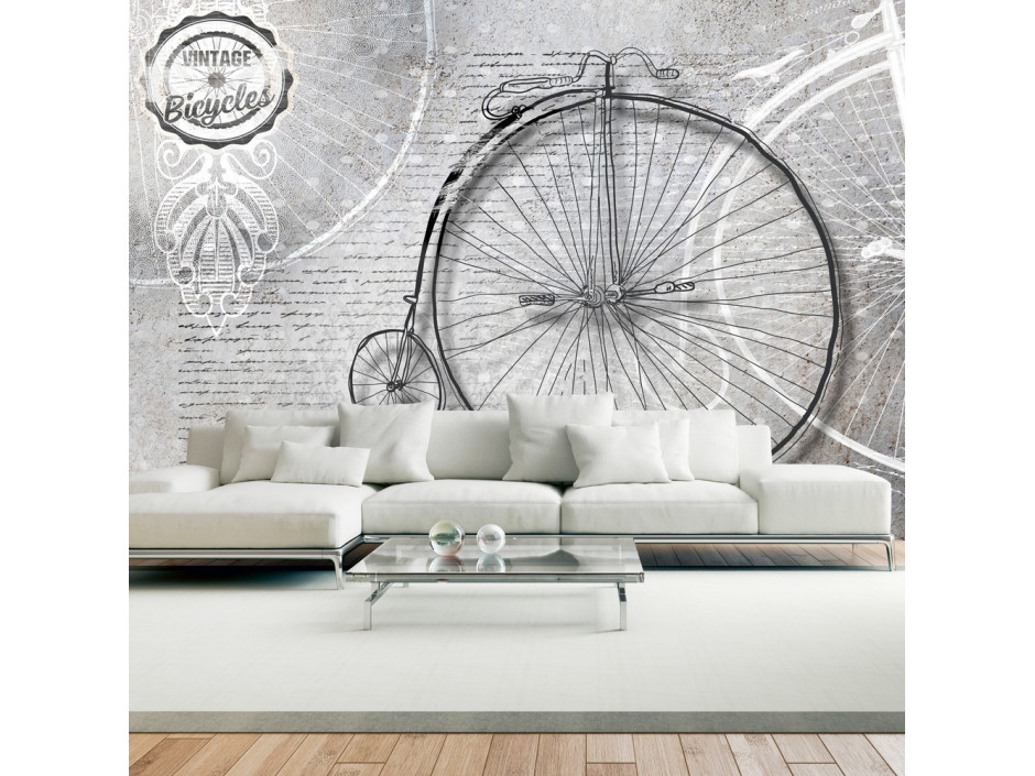 Papier peint  Vintage bicycles  black and white