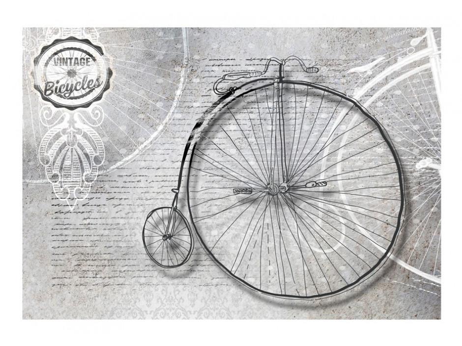 Papier peint  Vintage bicycles  black and white