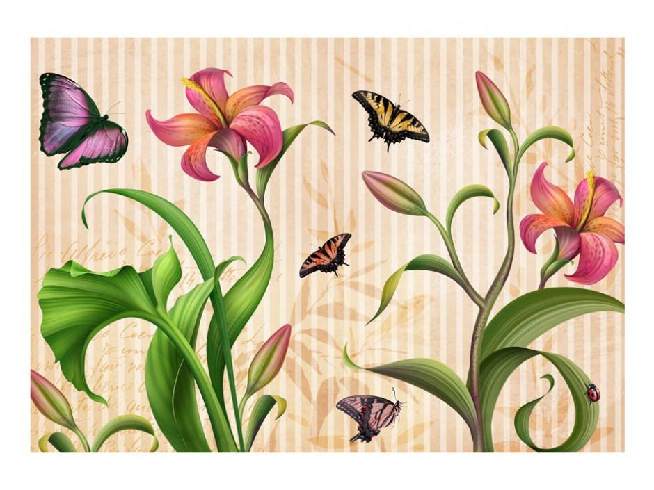 Papier peint  Vintage  spring