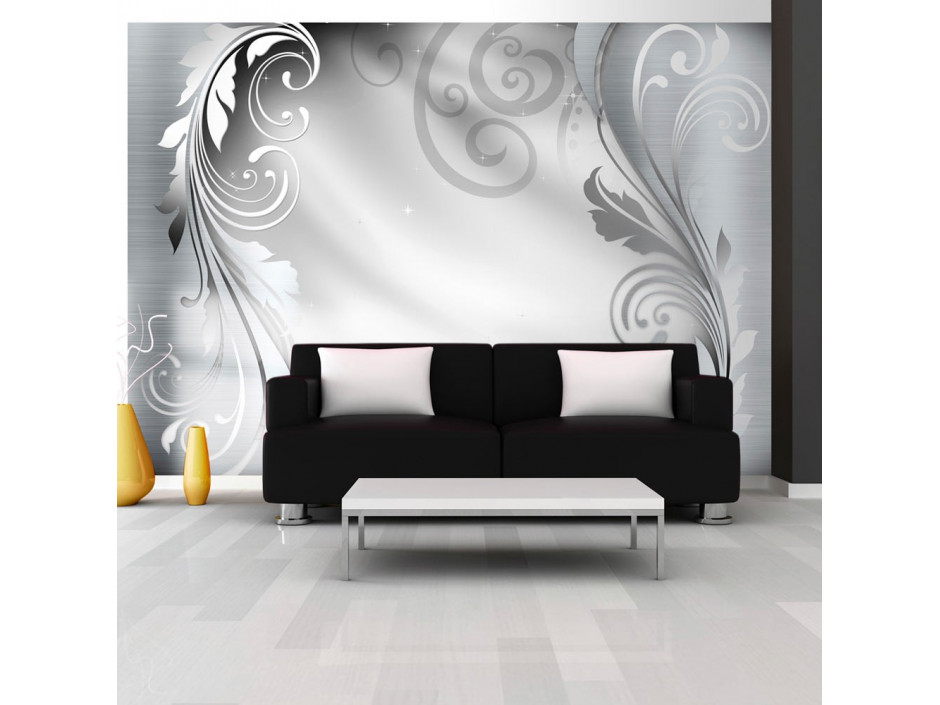 Papier peint - Silver ornament