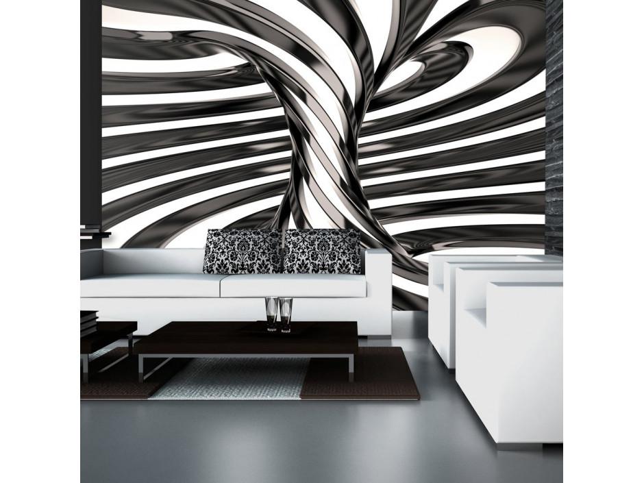 Papier peint  Black and white swirl