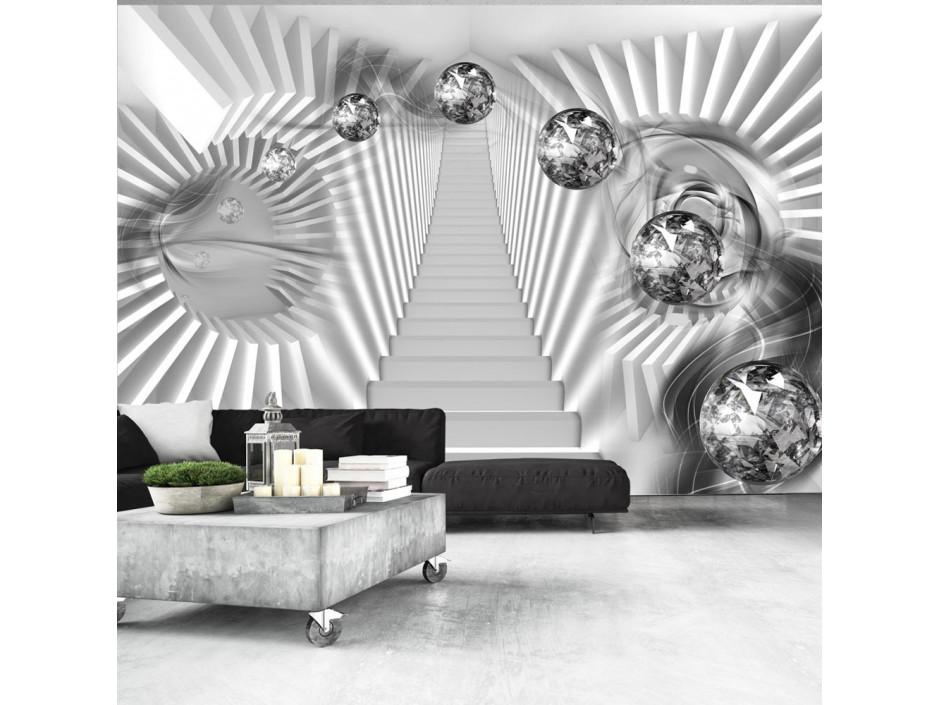 Papier peint  Escalier en argent