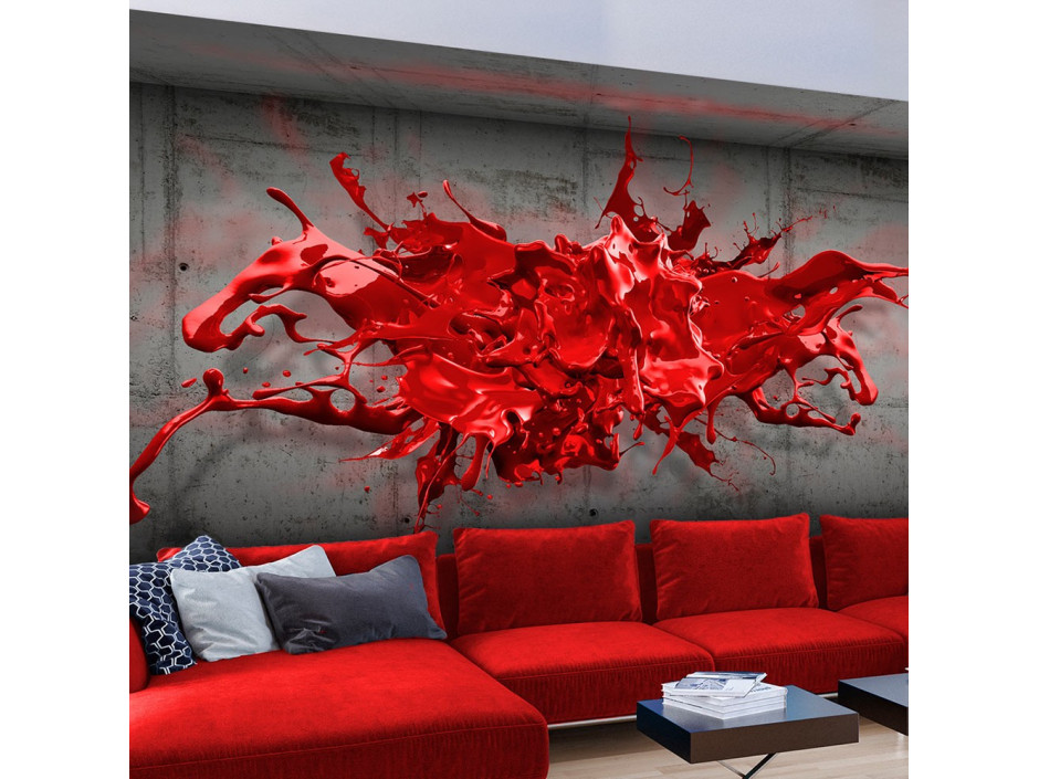 Papier peint - Red Ink Blot