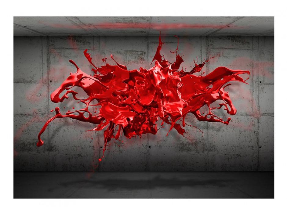 Papier peint  Red Ink Blot