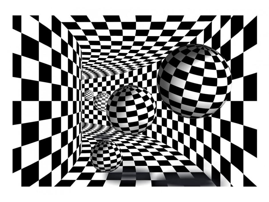 Papier peint  Black & White Corridor