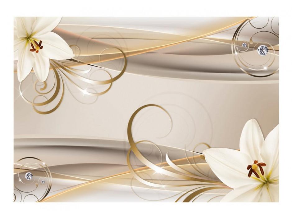 Papier peint  Lilies and The Gold Spirals