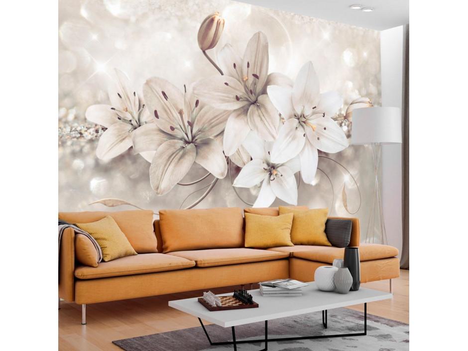 Papier peint - Diamond Lilies
