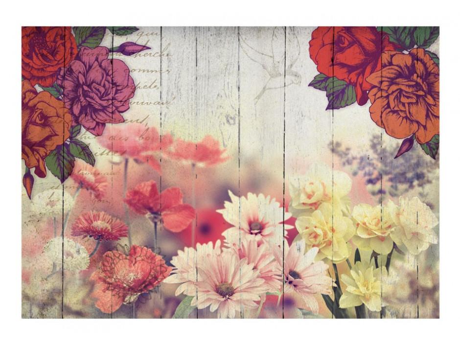 Papier peint  Vintage Flowers