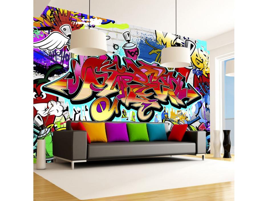 Papier peint  Street artred theme