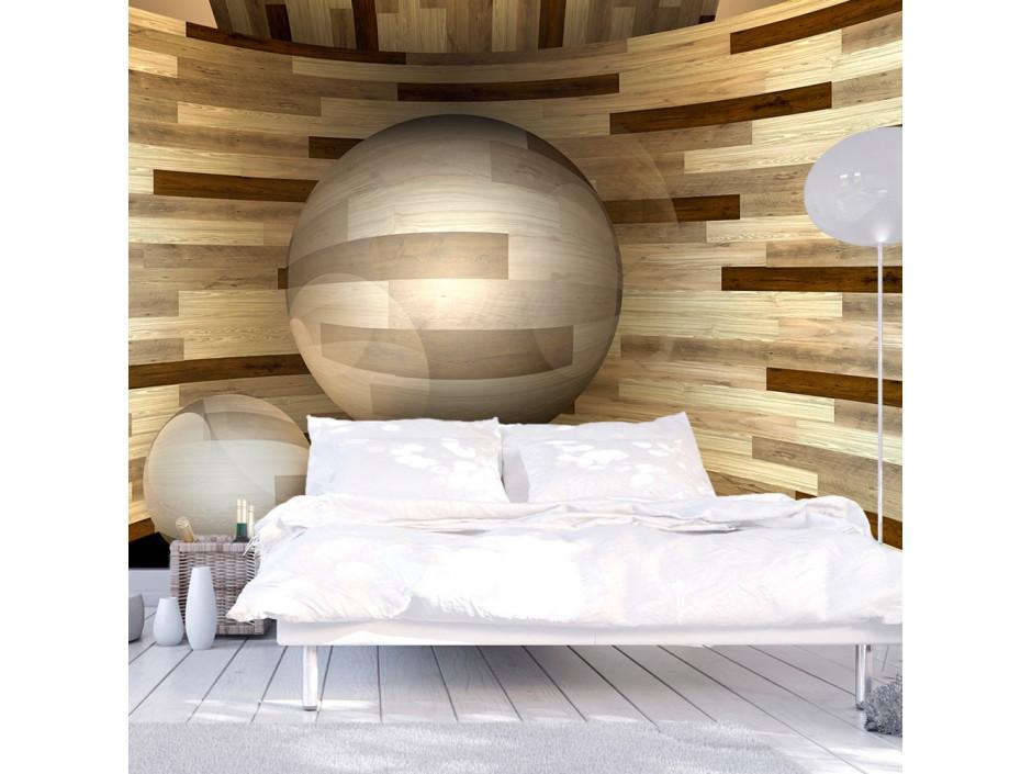 Papier peint - Orbite de bois
