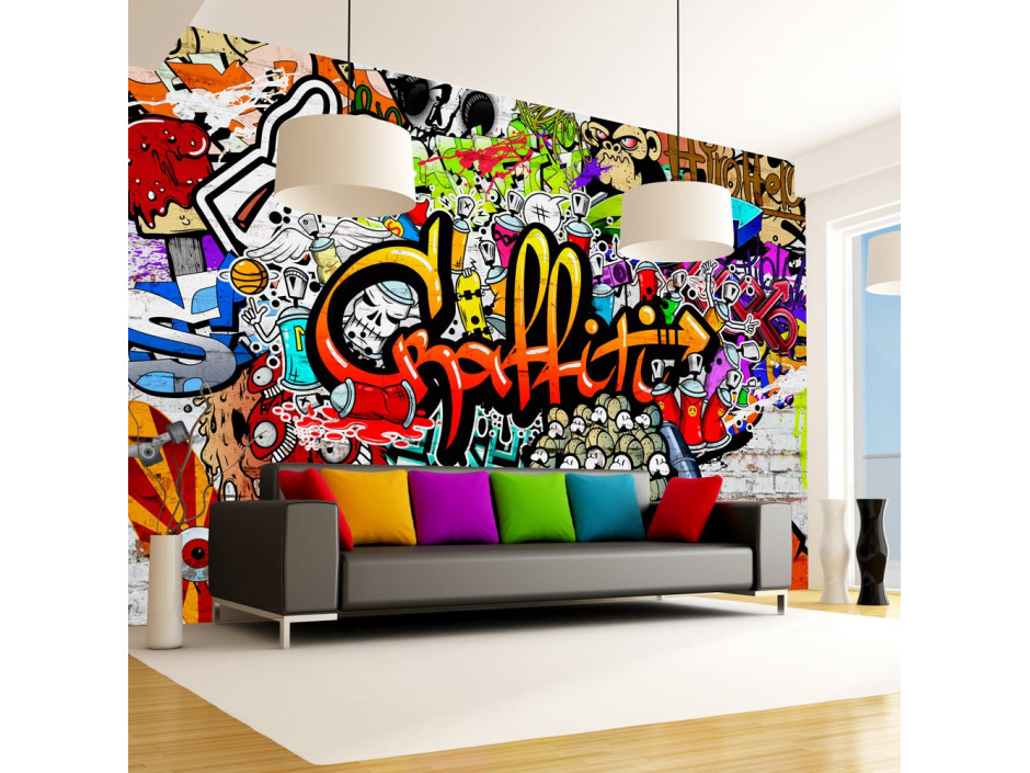 Papier peint  Colorful Graffiti