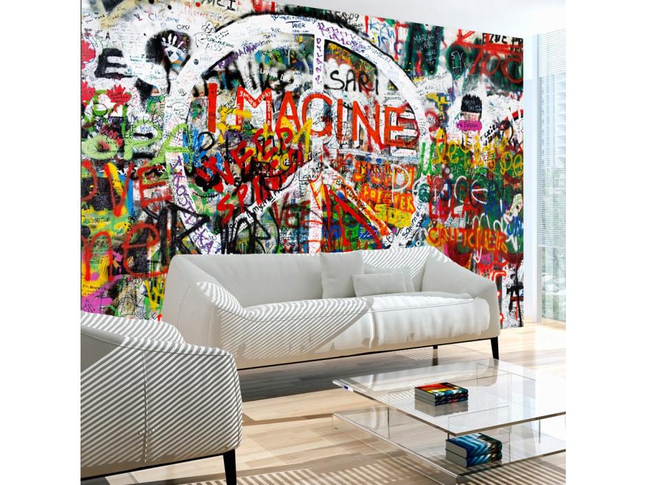 Papier peint  Hippie Graffiti