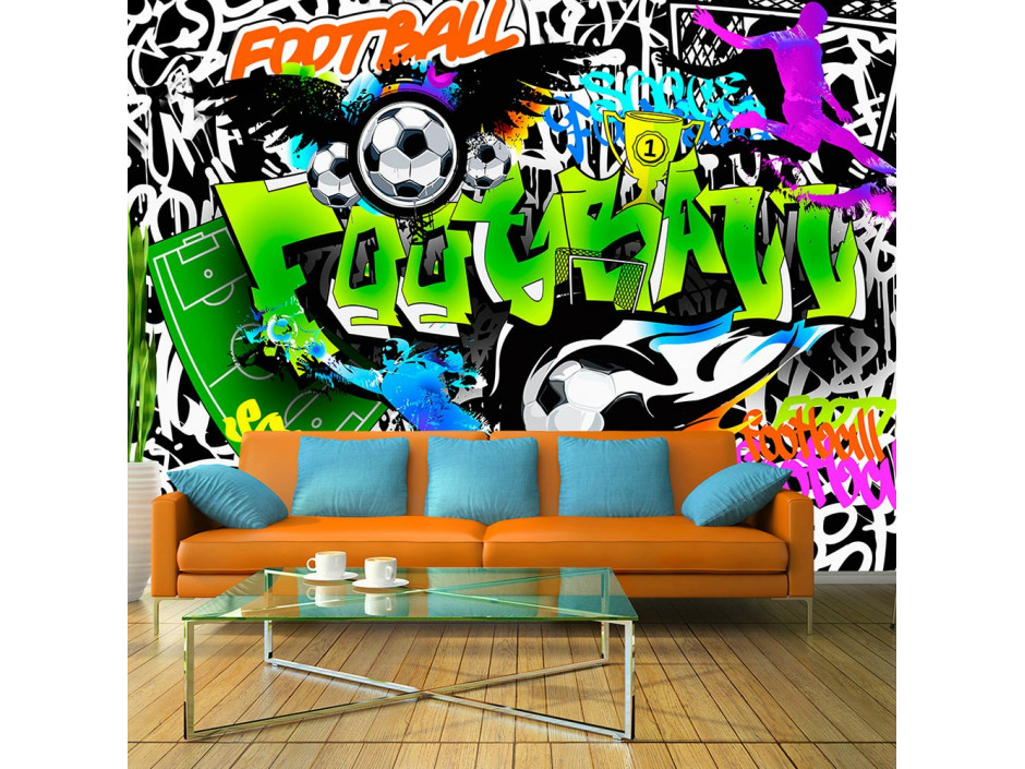 Papier peint  Football Graffiti