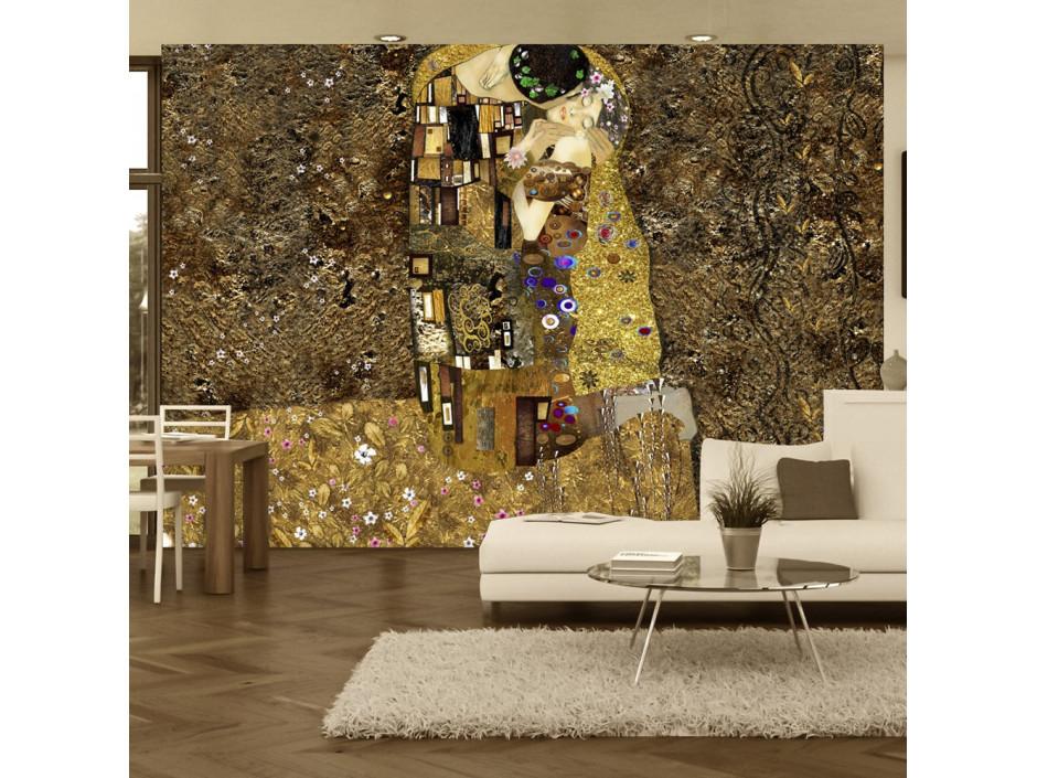Papier peint  Klimt inspiration  Golden Kiss
