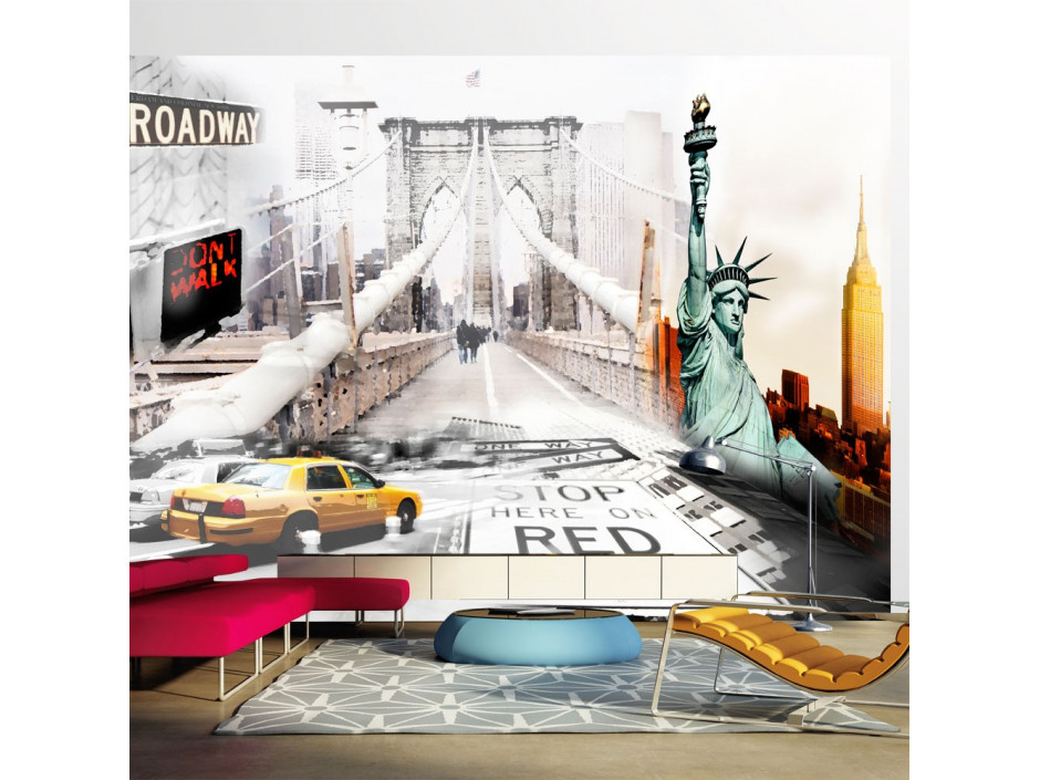 Papier peint  New York streets