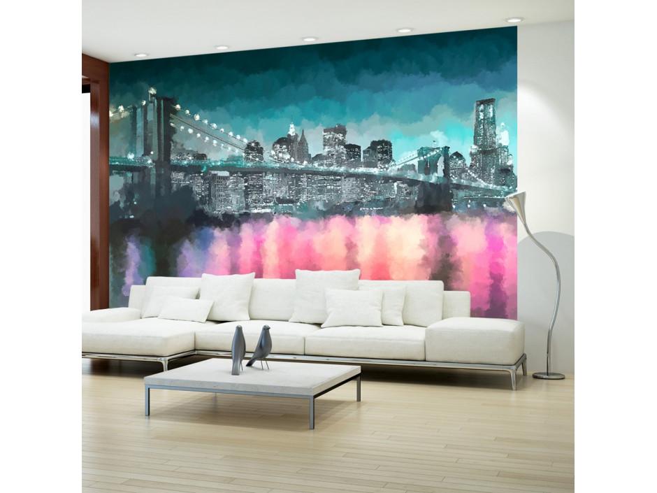 Papier peint  Painted New York