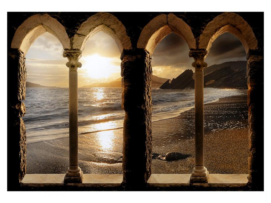 Papier peint  Castle on the beach