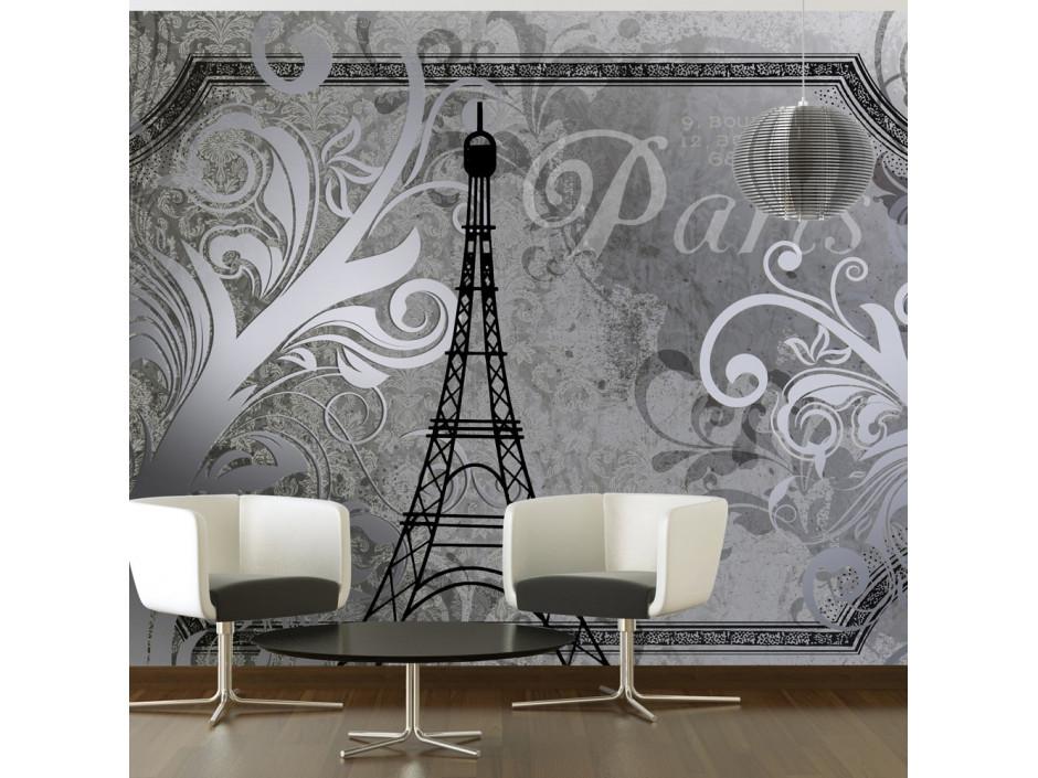 Papier peint - Vintage Paris - silver