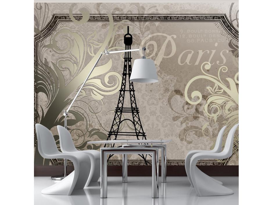 Papier peint - Vintage Paris - gold