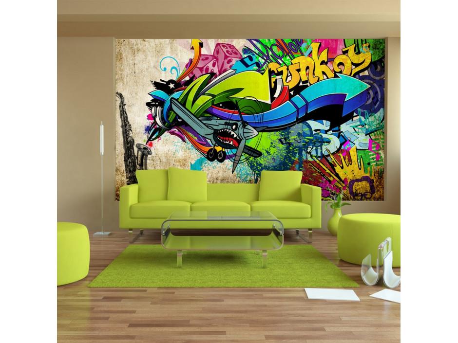 Papier peint - Funky - graffiti