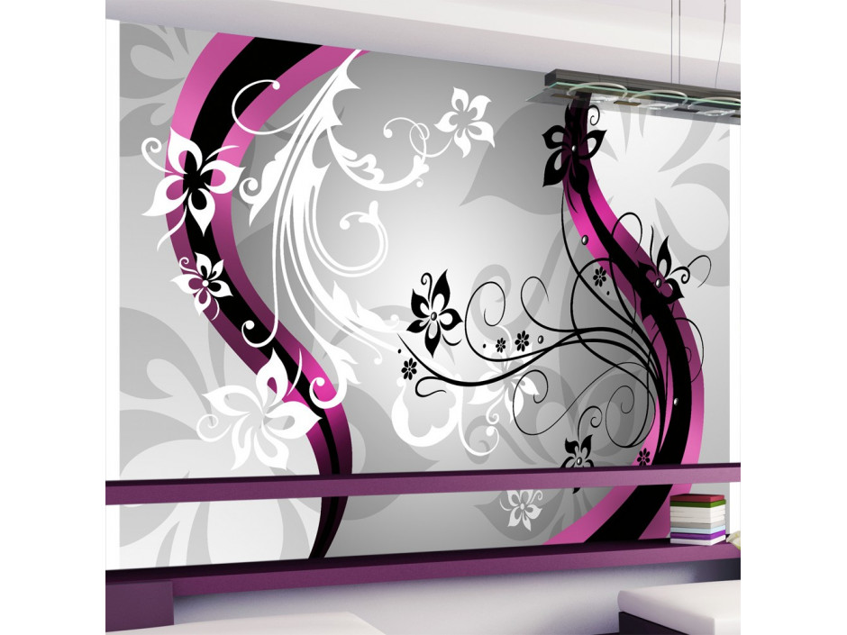 Papier peint  Mosaïque florale