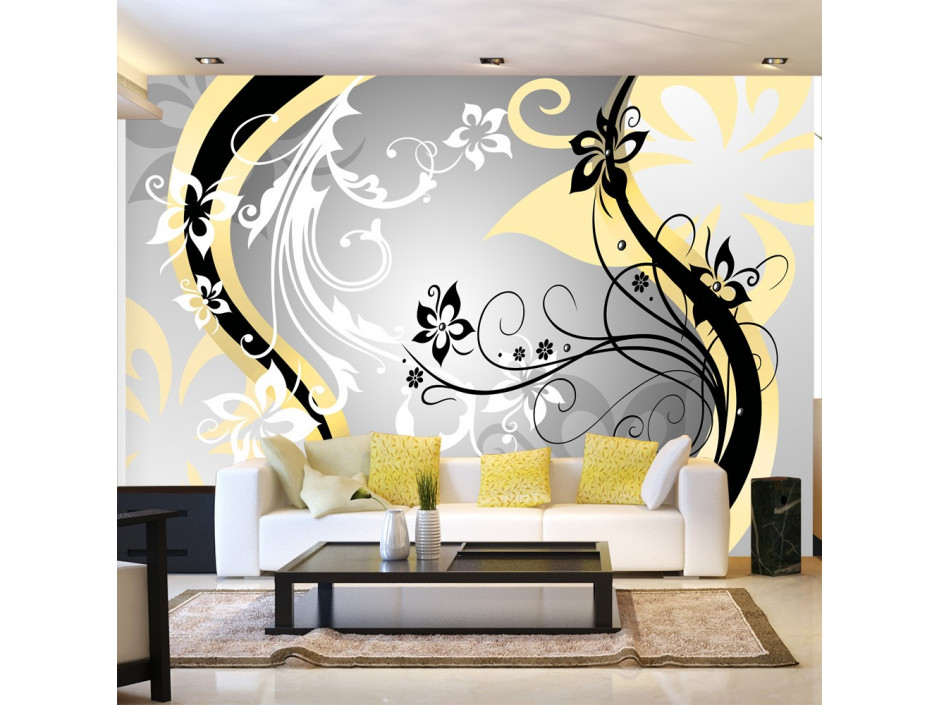 Papier peint  Artflowers (yellow)