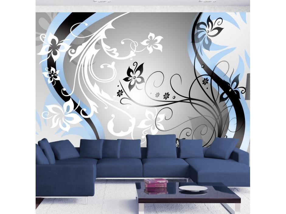 Papier peint  Artflowers (blue)