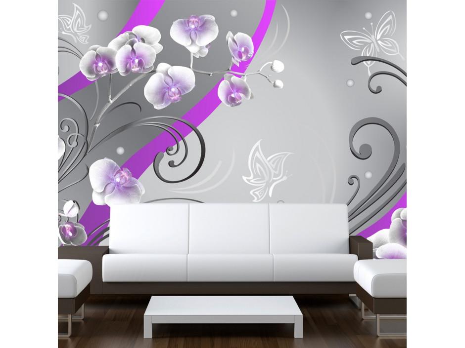 Papier peint  Purple orchids  variation