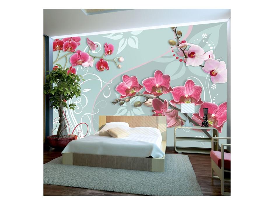 Papier peint - Pink orchids - variation II