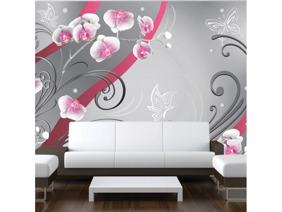 Papier peint  Pink orchids  variation