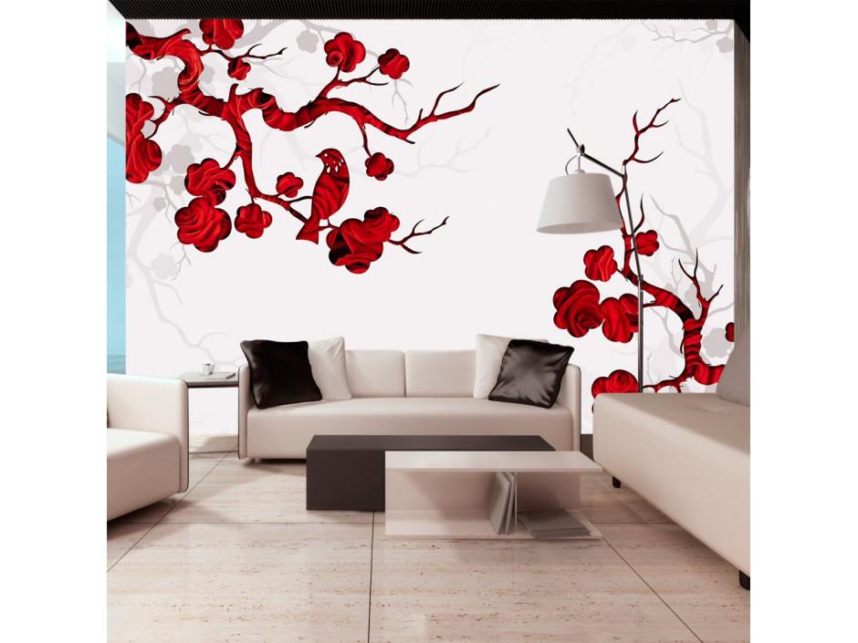 Papier peint  Red bush