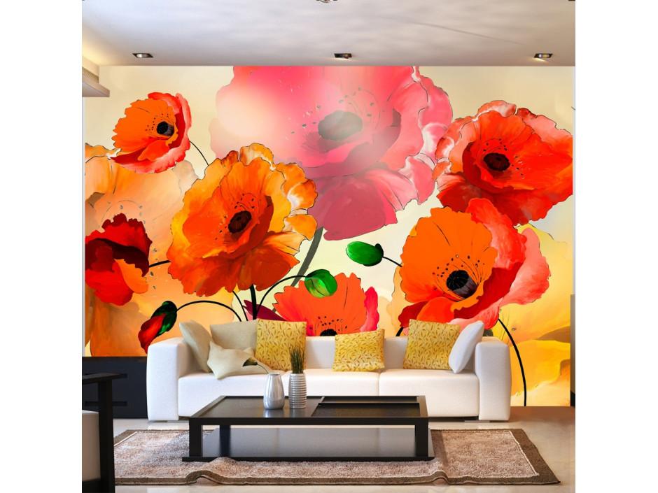 Papier peint - Velvet Poppies