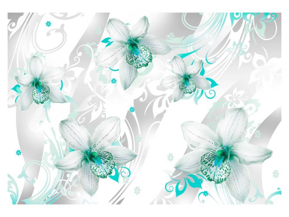 Papier peint  Sounds of subtlety  turquoise