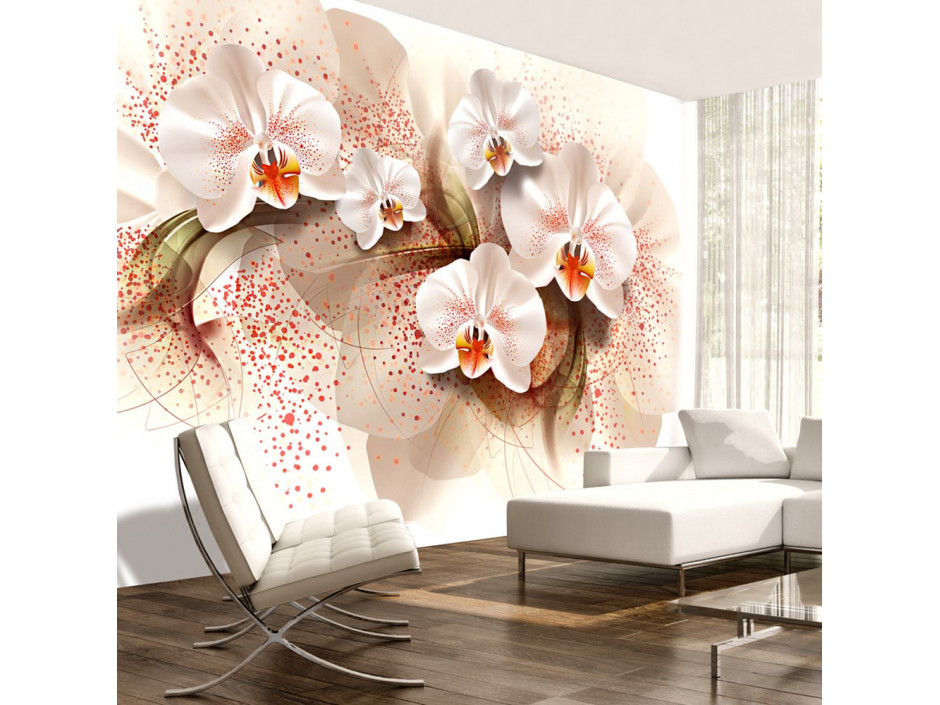Papier peint  Pale yellow orchids
