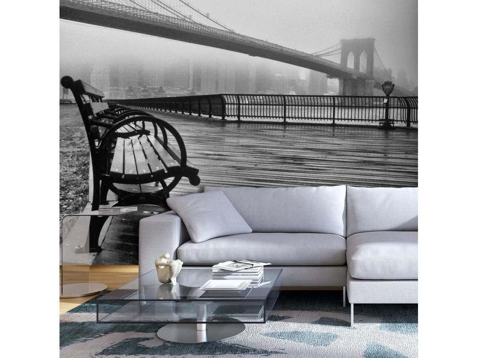 Papier peint - A Foggy Day on the Brooklyn Bridge