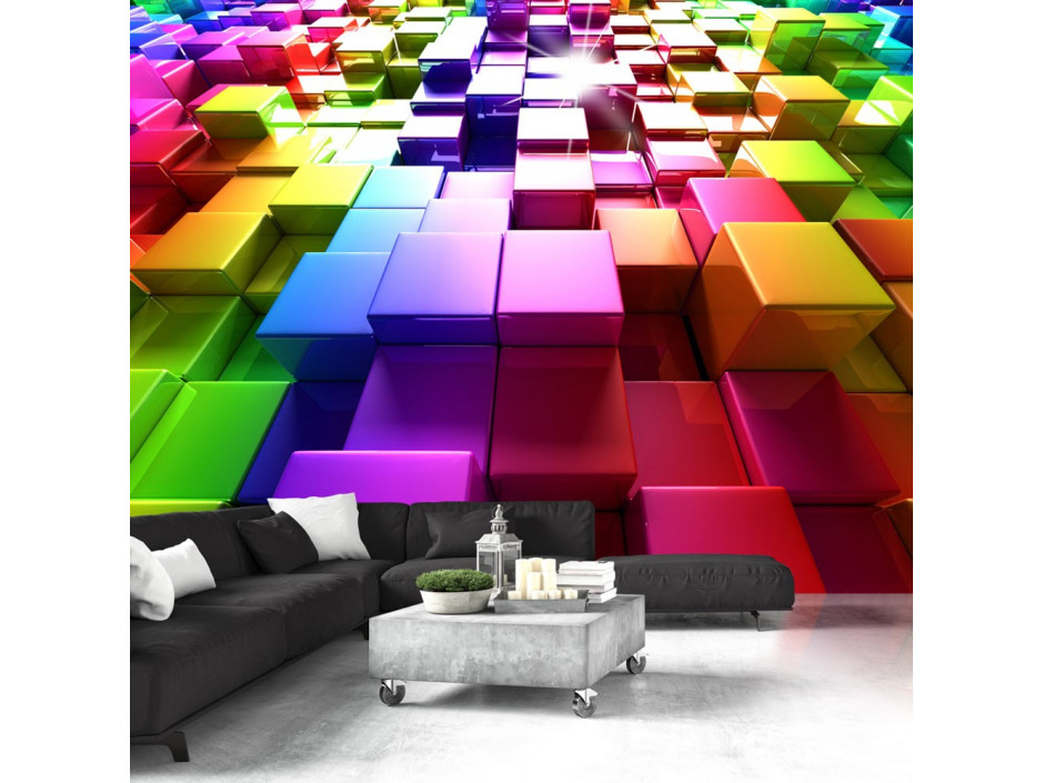 Papier peint  Colored Cubes