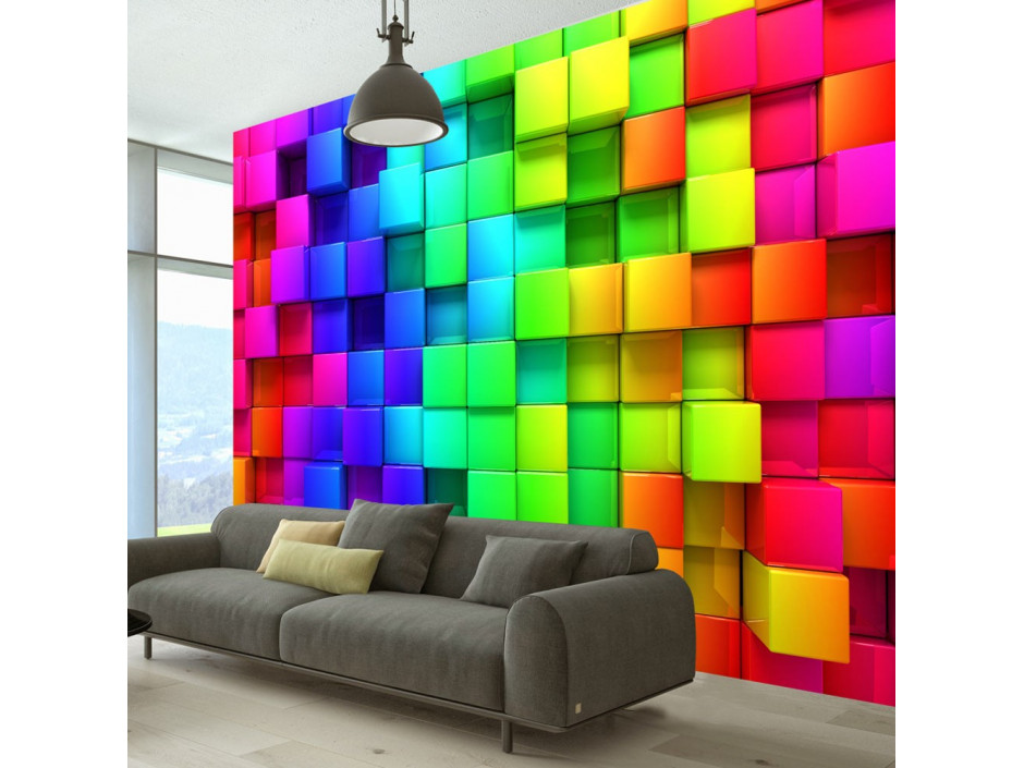 Papier peint - Colourful Cubes