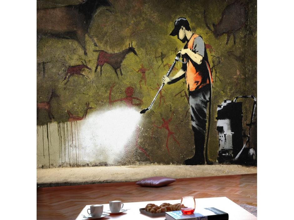 Papier peint  Banksy  Cave Painting